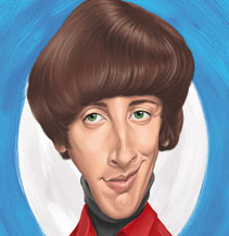 Karikatur, Simon Helberg, Howard Wolowitz, The Big Bang Theory, Bazinga, Dominic Lübbecke, Karikaturist, Magdeburg