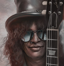 Portrait Slash Guns n Roses Dominic Lübbecke luebbi